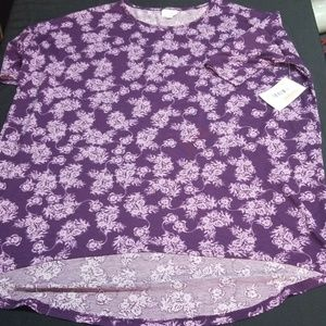 BNWT Large LulaRoe Irma Purple and Lavender